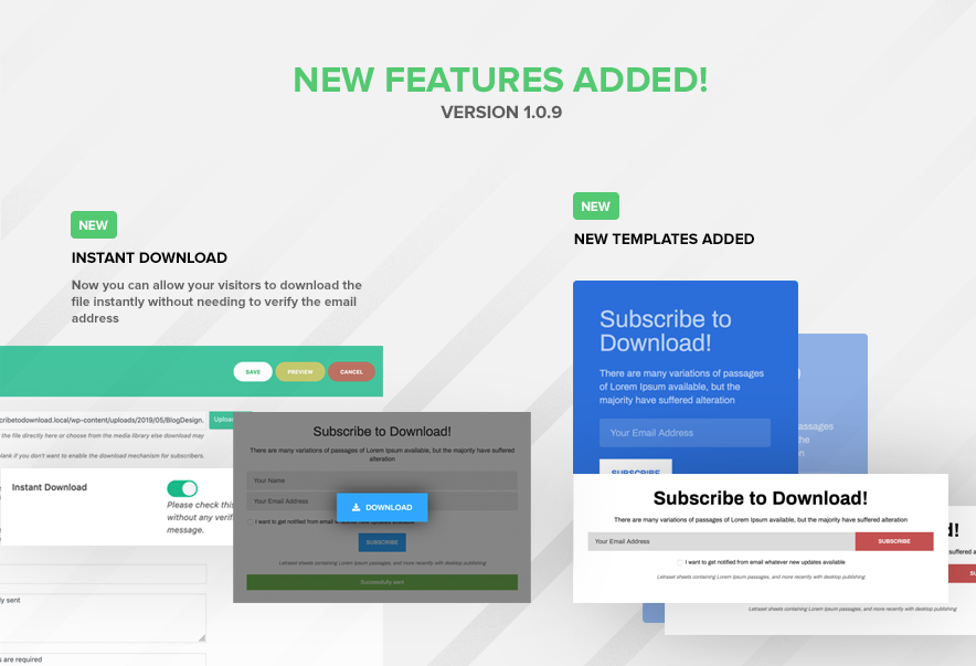Subscribe to Download - An advanced subscription plugin for WordPress - 9